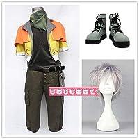 ファイナルファンタジーXIII FF13 ホープ・エストハイム (Hope Estheim) コスプレ衣装+靴+ウィッグ 変装 仮装 コスチューム