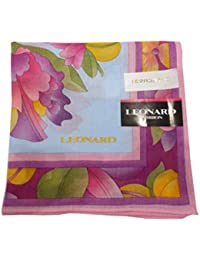 [レオナール] LEONARD 婦人 レディース ハンカチ 美しい花