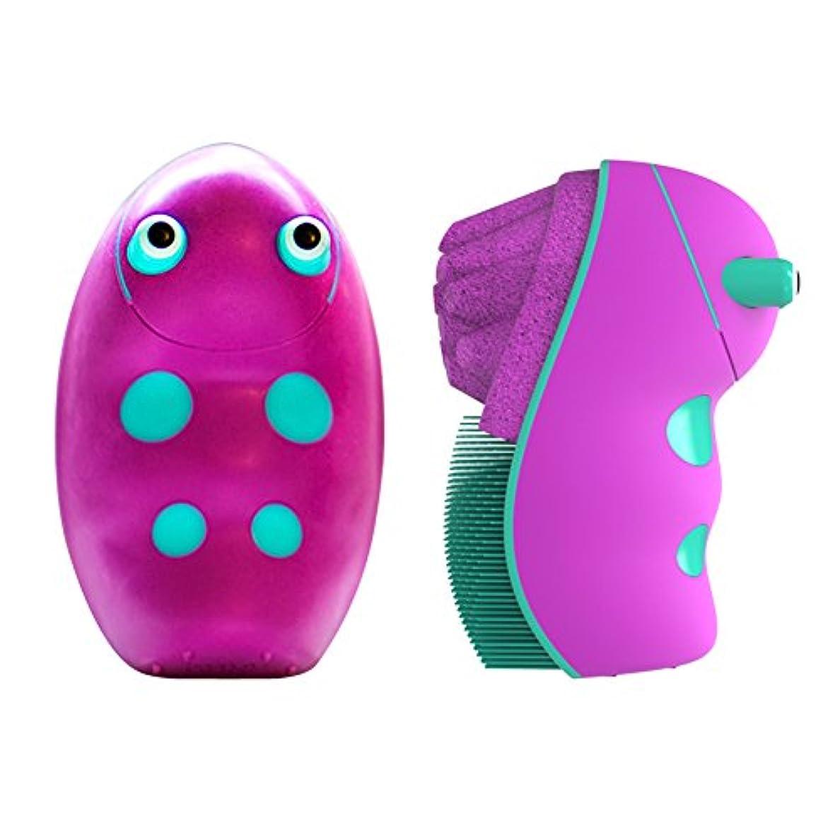 収入研磨壮大(スクラブバグ)Scrub Bugs キッズ細菌ケア手洗浄ブラシ (グレープ)