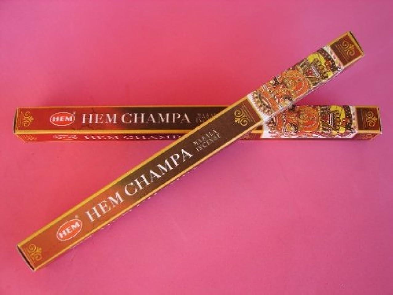 確率進行中電気陽性4 Boxes of HEM CHAMPA Incense Sticks