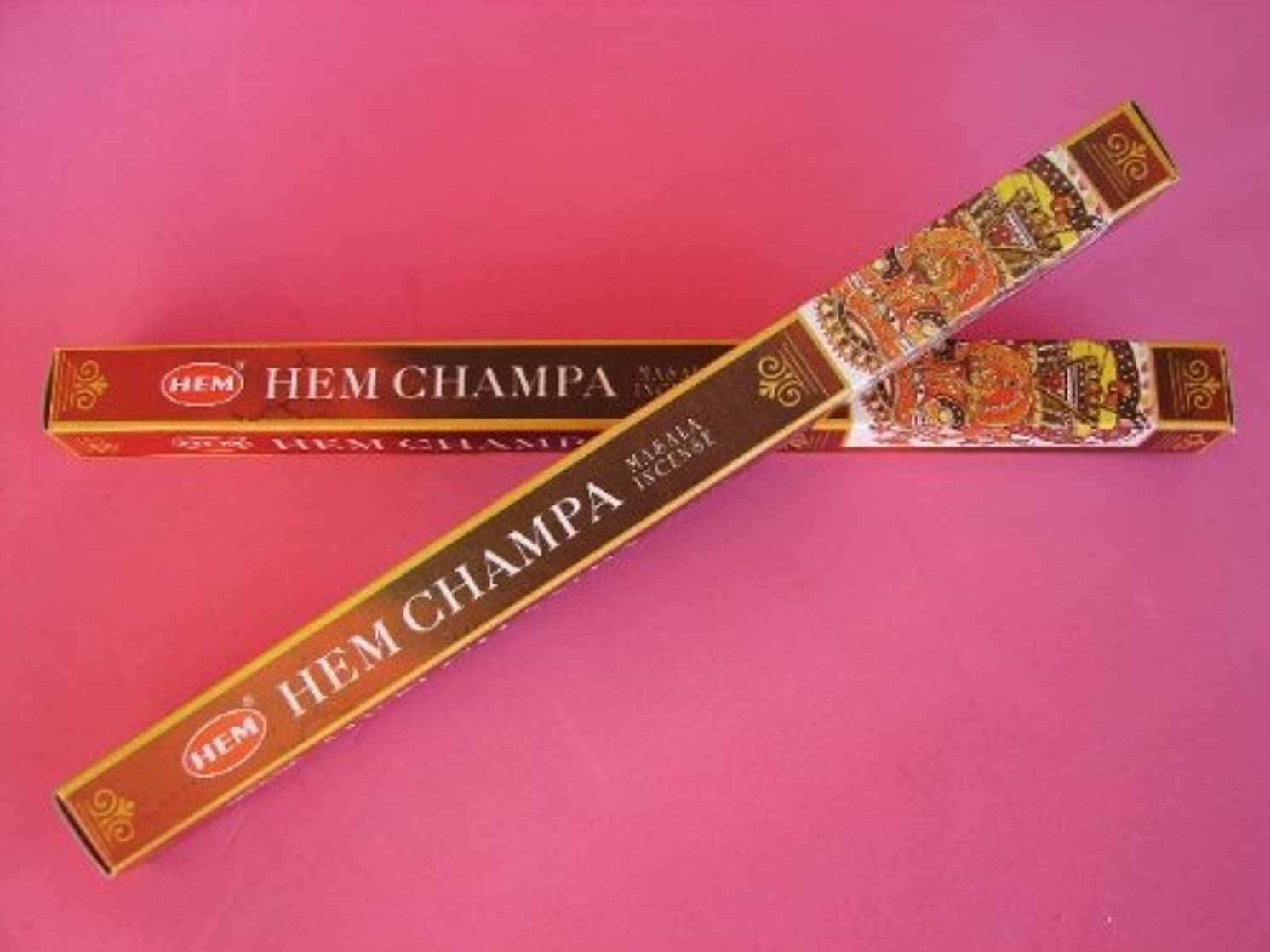 無効泣き叫ぶ贈り物4 Boxes of HEM CHAMPA Incense Sticks