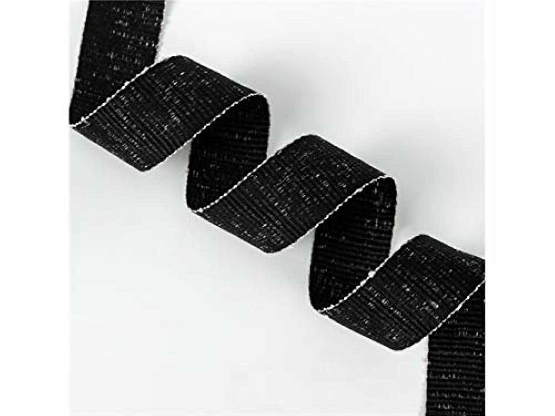 FenBuGu-JP 興味深い 22ヤードギフトリボンDIYツールフラワーリボンボウリボンフェスティバルパーティーデコレーション(ブラック)