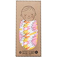 Captain Silly Pants Baby Swaddle, 100% Organic Cotton, Pink Ganado Lullaby - by Captain Silly Pants