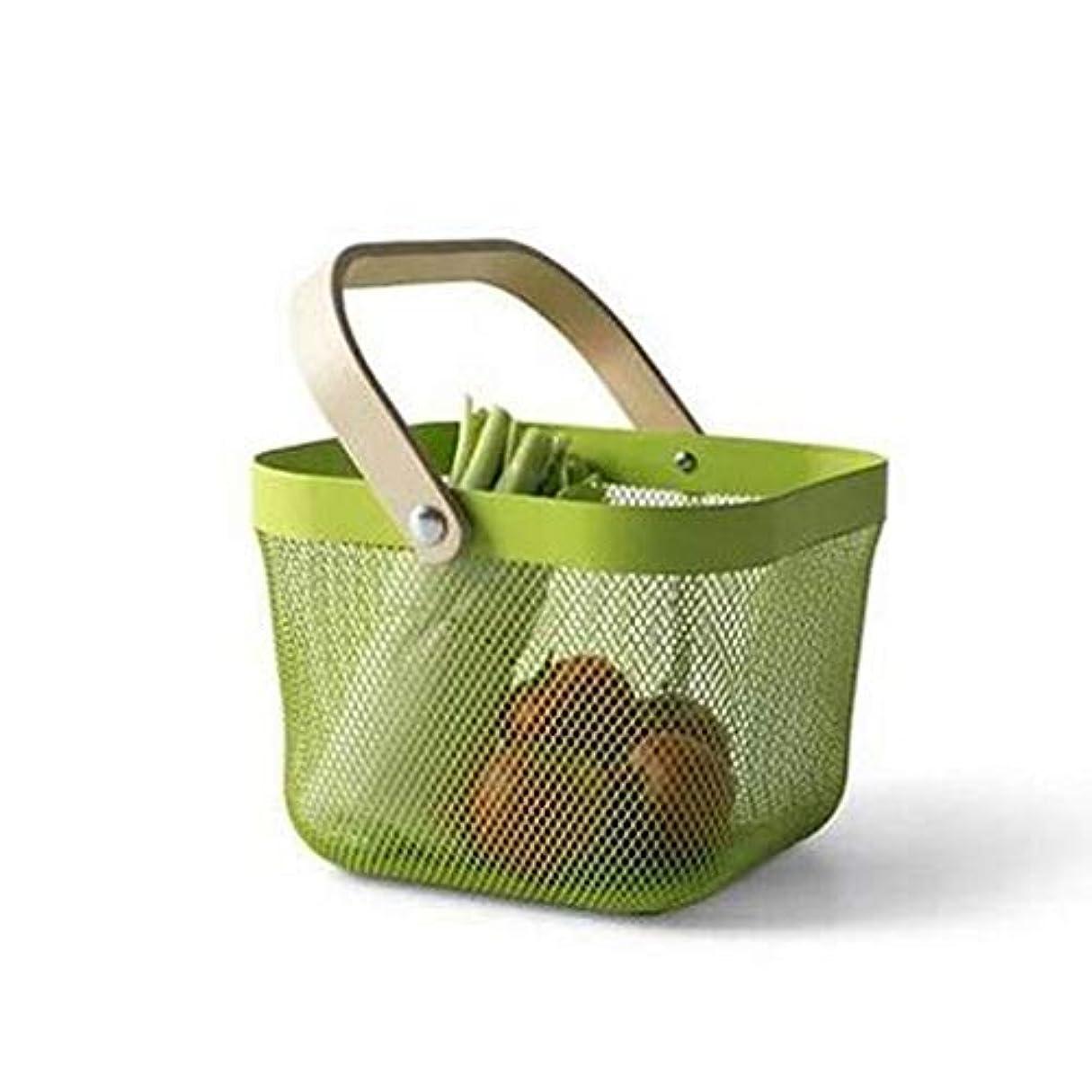 七時半家主失われたデスクトップストレージバスケット多機能ストレージバスケットの果物小さなバスケットRuishaバスケット、4色オプション SMMRB (色 : 緑)