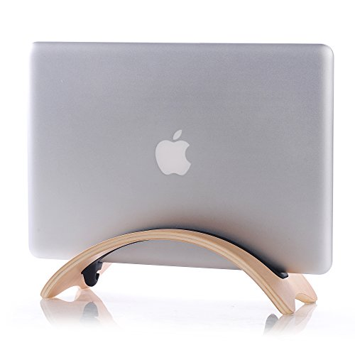 BELK ノートパソコンスタンド iPadスタンド ノート PC スタンド MacBook Air / Pro 専用 天然木 スタンド ウッド (全2色 ホワイト)