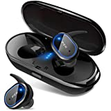 PZX Bluetooth イヤホン 自動ペアリング Bluetooth5.0 完全ワイヤレス イヤホン 両耳 IPX6防水 マイク付き