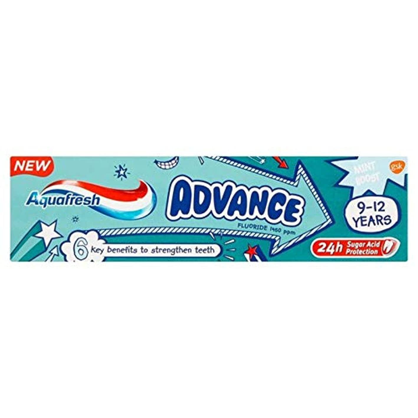キャラバン才能のある推進、動かす[Aquafresh ] アクアフレッシュの事前9-12年間の子供の歯磨き粉75ミリリットル - Aquafresh Advance 9-12 Years Kids Toothpaste 75ml [並行輸入品]