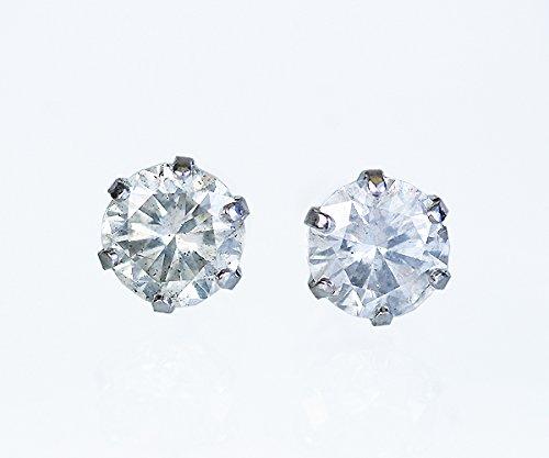 【KASHIMA】プラチナ900 大粒 1.0ct ダイヤモンド スタッド ピアス
