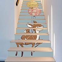 13ピースフォーンズバルーン北欧の子供の部屋の装飾階段ステッカーファッション創造的な階段の装飾アートインテリアウォールクロス18 * 100cm