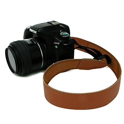 国産 かばん屋さんの手作り レザーカメラストラップ 一眼レフカメラに (ショート/キャメル)