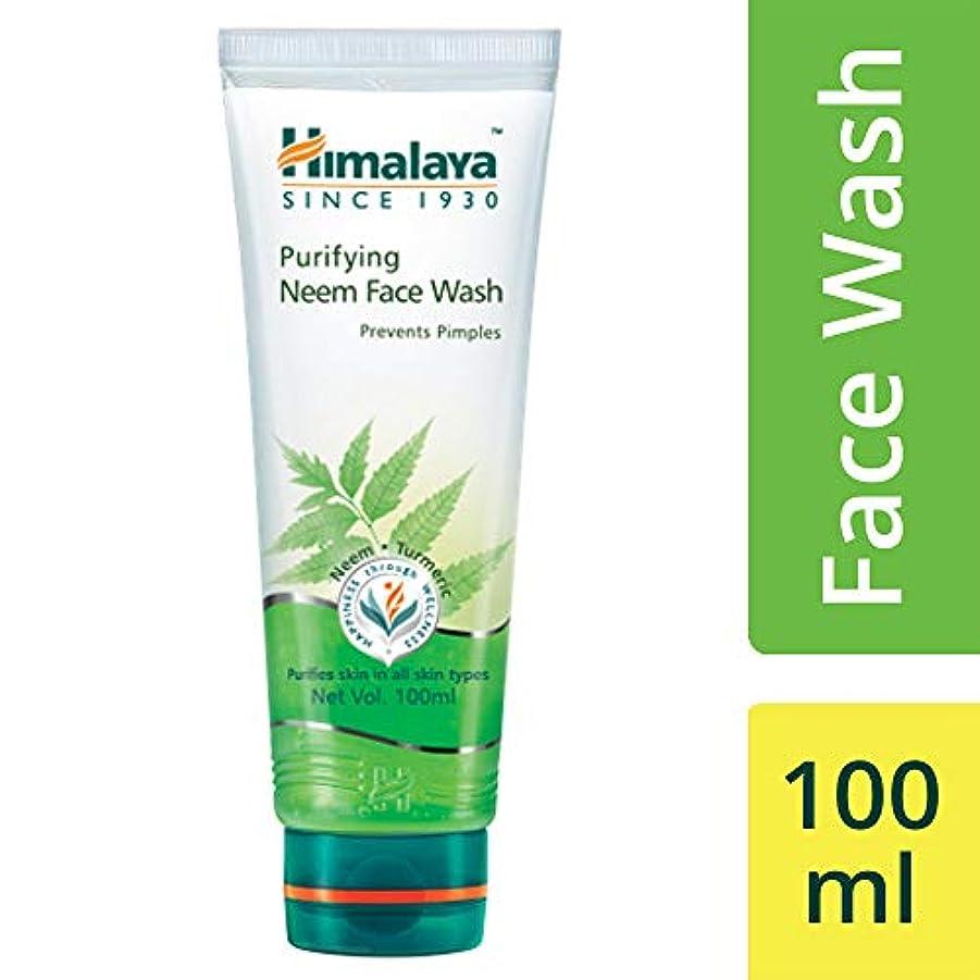 解凍する、雪解け、霜解け陽気なブレーキHimalaya Herbals Purifying Neem Face Wash 100ml (Prevents Pimples)