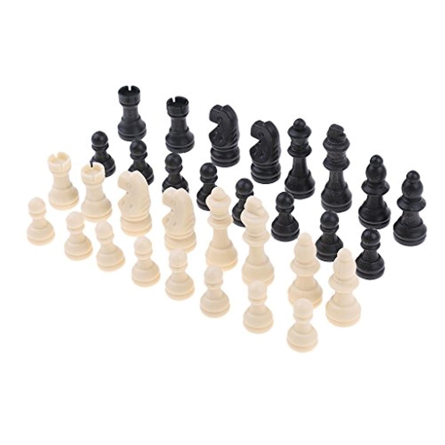 Sharplace 約32個 プラスチック 国際チェス チェスゲーム チェスマン ボードゲーム用品 全4サイズ - 51ミリメートル