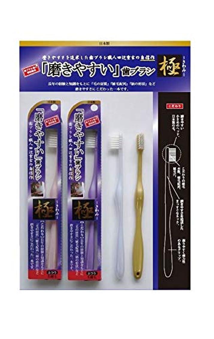 不良貸す広がり歯ブラシ職人 田辺重吉 磨きやすい歯ブラシ 極 先細毛タイプ LT-22(1本×4個セット)