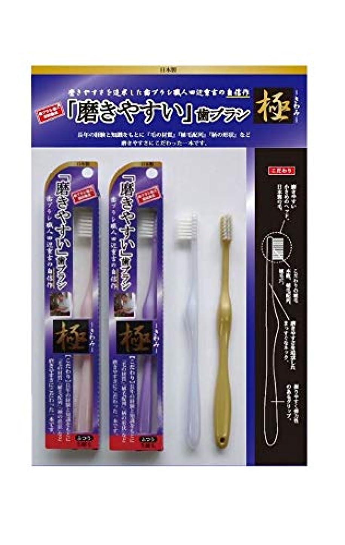 どれでも医学によって歯ブラシ職人 田辺重吉 磨きやすい歯ブラシ 極 先細毛タイプ LT-22(1本×4個セット)