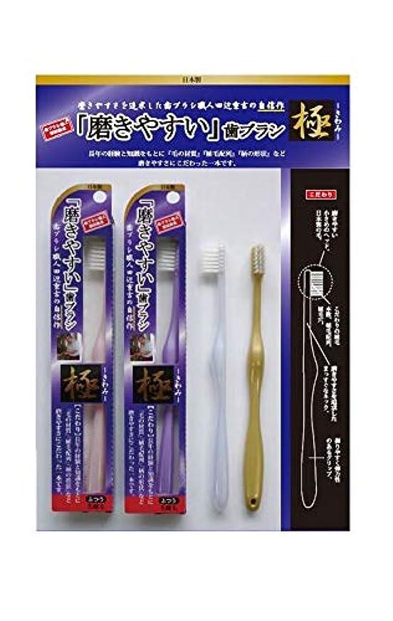 ライセンス密度薬剤師歯ブラシ職人 田辺重吉 磨きやすい歯ブラシ 極 先細毛タイプ LT-22(1本×4個セット)