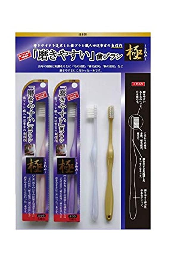 吸うパーチナシティカカドゥ歯ブラシ職人 田辺重吉 磨きやすい歯ブラシ 極 先細毛タイプ LT-22(1本×4個セット)