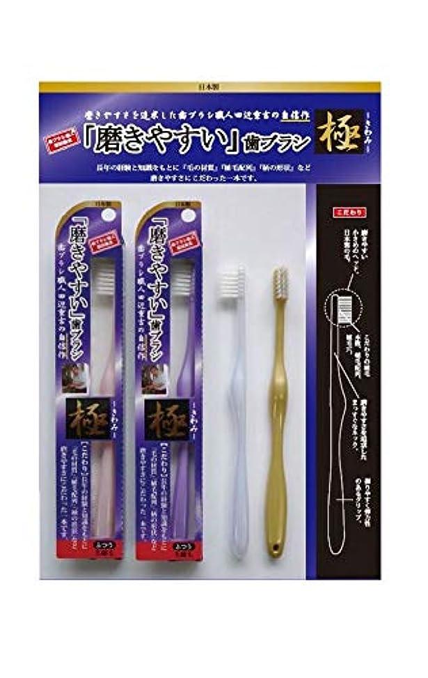 結び目送料医学歯ブラシ職人 田辺重吉 磨きやすい歯ブラシ 極 先細毛タイプ LT-22(1本×4個セット)