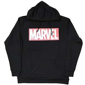 Marvel(マーベル) ロゴ ブラック 薄手パーカー【ユニセックス/フリーサイズ】