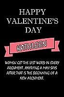 happy valentine's day  Kathleen Quote: composition notebook :valentine's day gift for an happy valentine day gratitude your lover