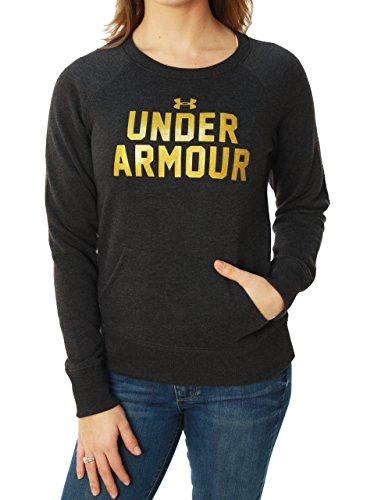 Under Armour女性用Chargedコットン軽量フリースBigロゴスウェットシャツ