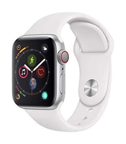 AppleWatch Series4(GPS+Cellularモデル)- 40mmシルバーアルミニウムケースとホワイトスポーツバンド