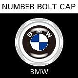 【BMW】【ナンバープレート用】BMW ナンバーボルトキャップ NUMBER BOLT CAP 3個入りセット タイプ1 ブラガ