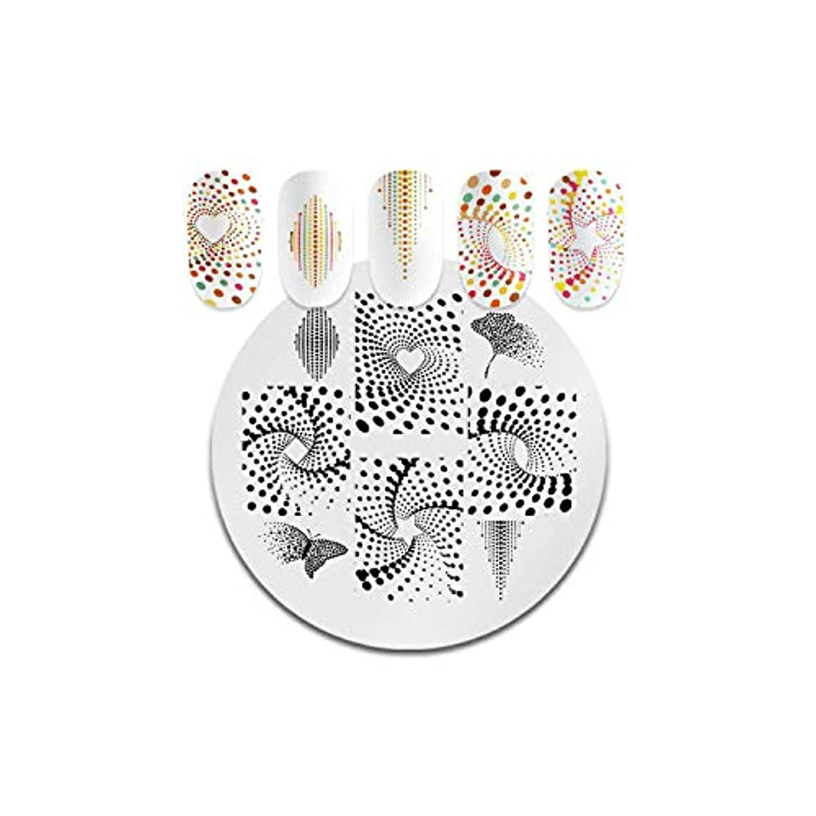 賢い立証する選出するAKIROKスクエアラウンドネイルスタンピングプレート動物パターンステンレススチールスタンピングテンプレートネイルアートデザインツール,PY-Y002