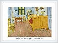 ポスター フィンセント ファン ゴッホ The Bedroom 1888 額装品 ウッドハイグレードフレーム(ホワイト)
