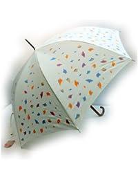 KitagawaSyouten[キタガワショウテン] 雨傘 レディース 長傘 婦人 グラスファイバー骨 オフホワイト