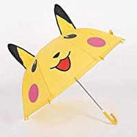 Pikachu Cartoon Children Kids Yellow Folding Umbrella Parasol UV Protection Windproof Rain