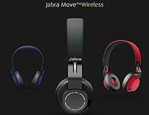 <国内正規品>Jabra Bluetooth4.0 オーバーヘッド型ワイヤレスステレオヘッドセット MOVE Wireless (J-MOVEWIRELESS-RD(レッド))