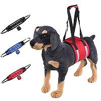 犬用リフトハーネスサポートスリング、反射ストリップデザイン犬用補助具スリング障害者用,赤,S