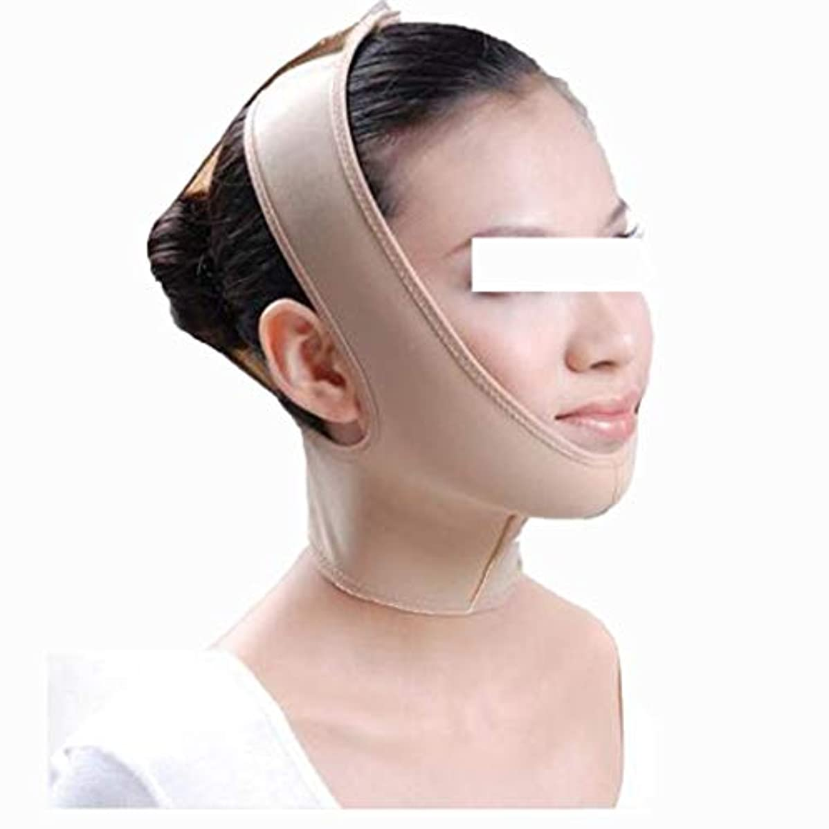 チャンスシネマ実験室Vフェイスバンデージ - フェイスコレクションフェイスリフティングツール引き締めスモールフェイスマスク