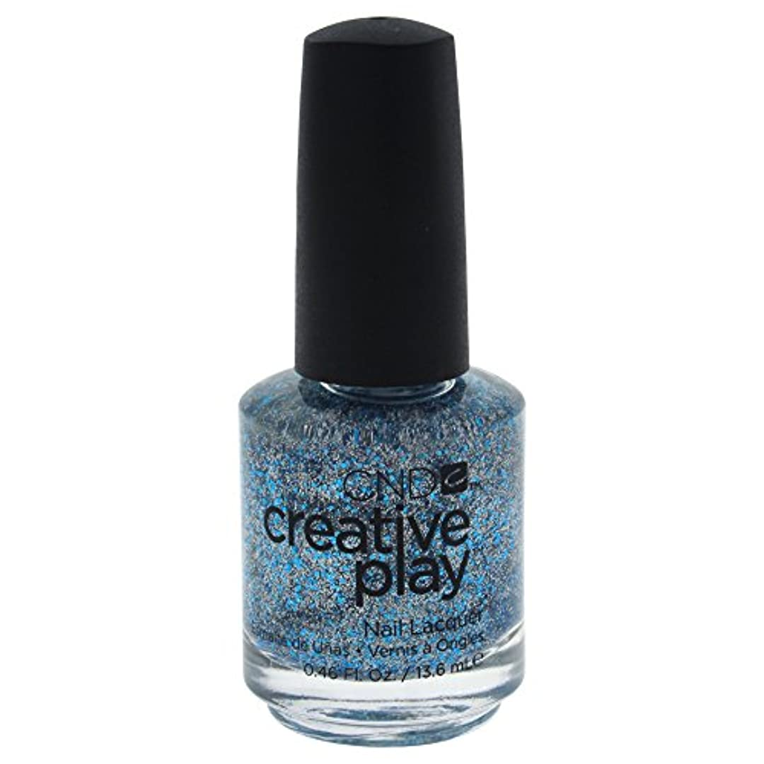 数学キャンベラ落花生CND Creative Play Lacquer - Kiss + Teal - 0.46oz / 13.6ml