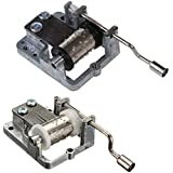 Moligh doll 2 PCS Music Box Cranked Inner Rotational Movement(Love Story & Happy Birthday to You)