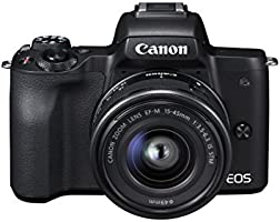 Canon EOS M50 EF-M15-45mm Kit 4K Mirrorless Camera, Black