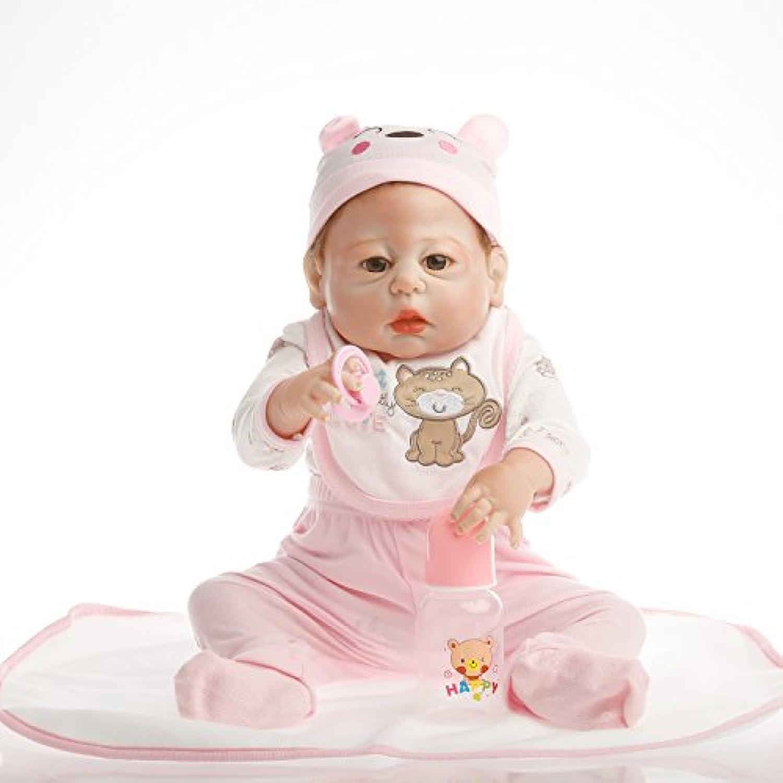NPK collection Rebornベビー人形リアルな赤ちゃん人形ビニールシリコン赤ちゃん22インチ55 cmピンクCat Suit