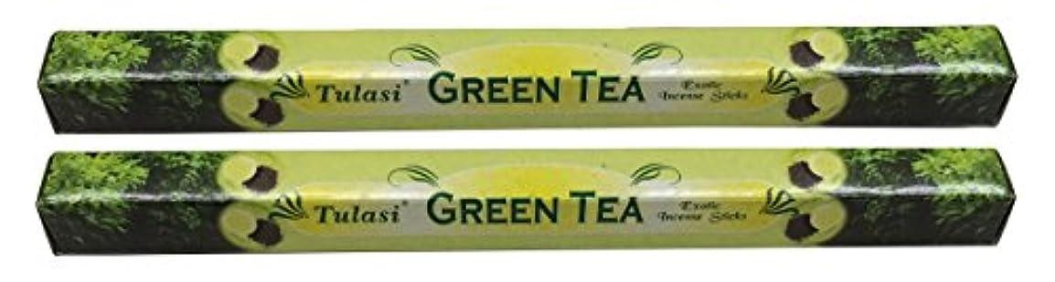 タイピストたまに機械的にTULASI サラチ STICKS お香 40本入り GREEN TEE グリーンティー 640187-2