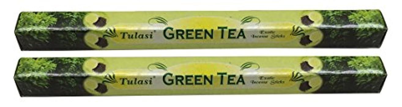 悲しいことに古代期限TULASI サラチ STICKS お香 40本入り GREEN TEE グリーンティー 640187-2