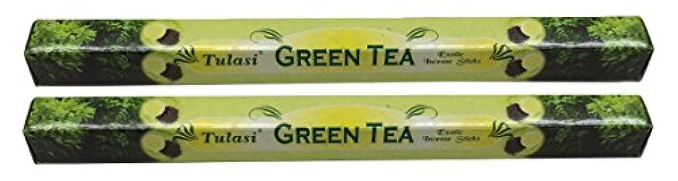昼寝気難しい平行TULASI サラチ STICKS お香 40本入り GREEN TEE グリーンティー 640187-2