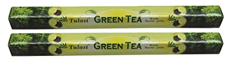 見ましたアラブきしむTULASI サラチ STICKS お香 40本入り GREEN TEE グリーンティー 640187-2