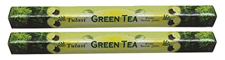 ベーリング海峡配列回想TULASI サラチ STICKS お香 40本入り GREEN TEE グリーンティー 640187-2
