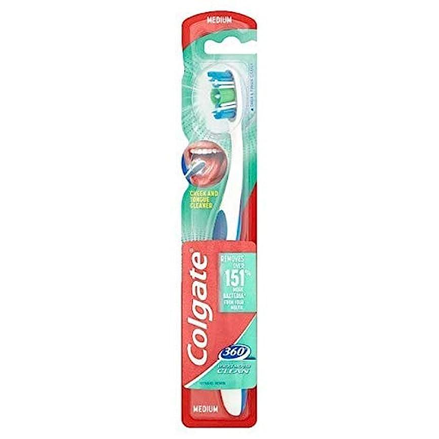 ペンフレンドに慣れ急流[Colgate ] コルゲート360°口全体のクリーンメディア歯ブラシ - Colgate 360° Whole Mouth Clean Medium Toothbrush [並行輸入品]