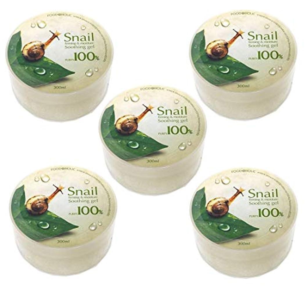 メイト毛皮執着[Food A Holic] スネイルファーミング&水分スージングジェル300ml X 5ea / Snail Firming & moisture Soothing Gel 300ml X 5ea / 純度97% /...