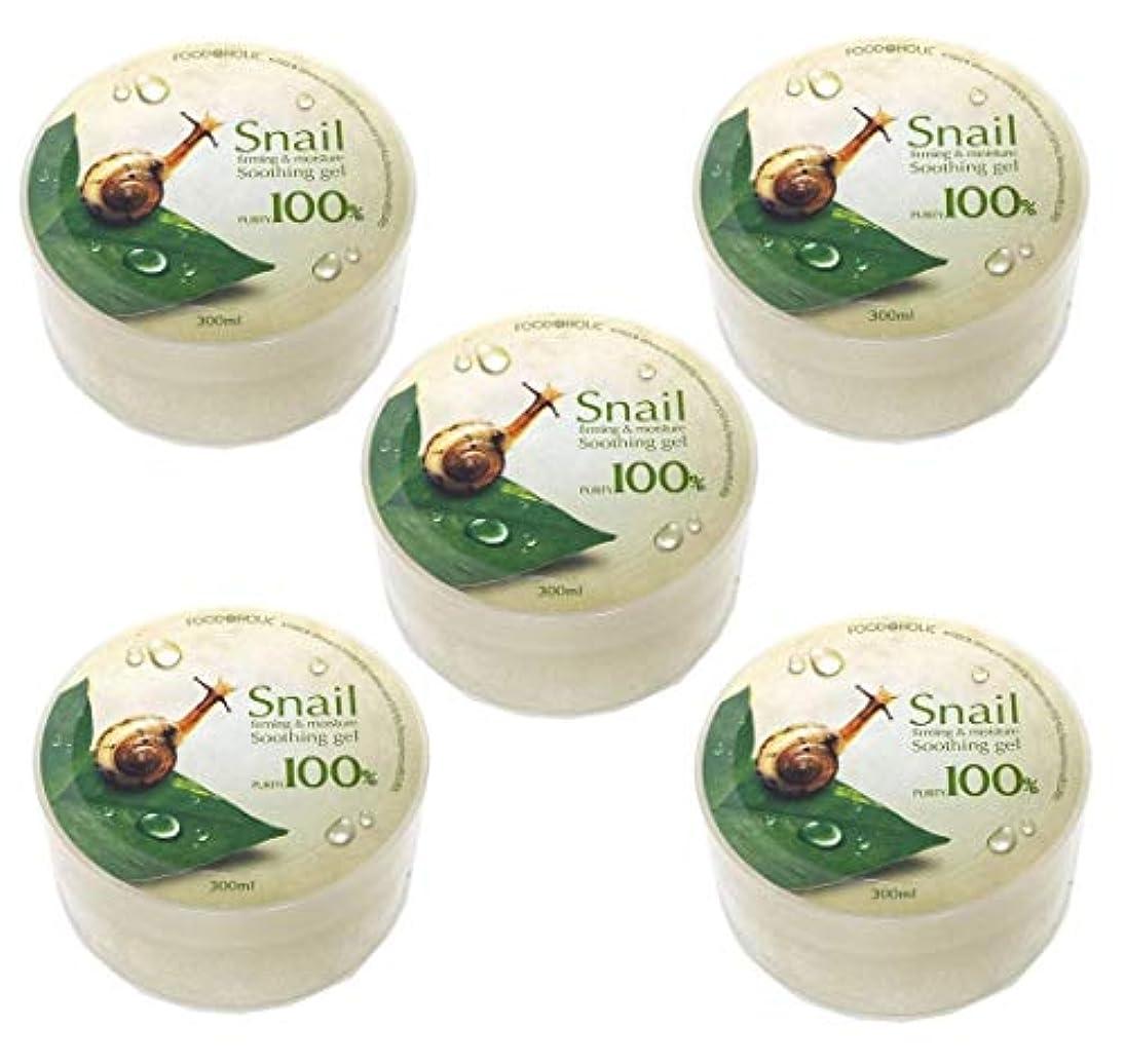矢じり口ひげ乱用[Food A Holic] スネイルファーミング&水分スージングジェル300ml X 5ea / Snail Firming & moisture Soothing Gel 300ml X 5ea / 純度97% /...