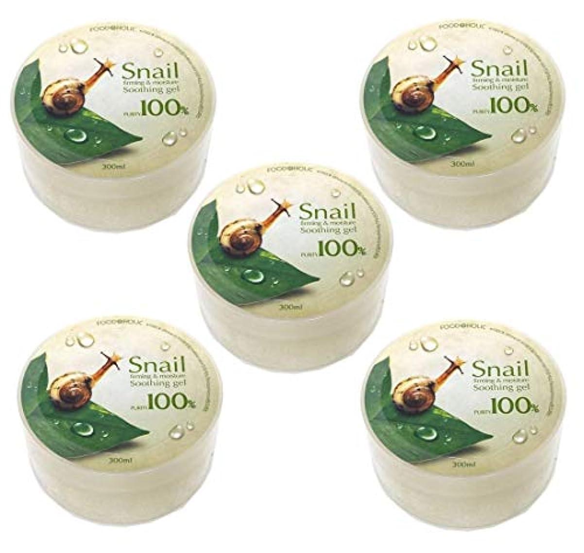 金属石鹸魂[Food A Holic] スネイルファーミング&水分スージングジェル300ml X 5ea / Snail Firming & moisture Soothing Gel 300ml X 5ea / 純度97% /...