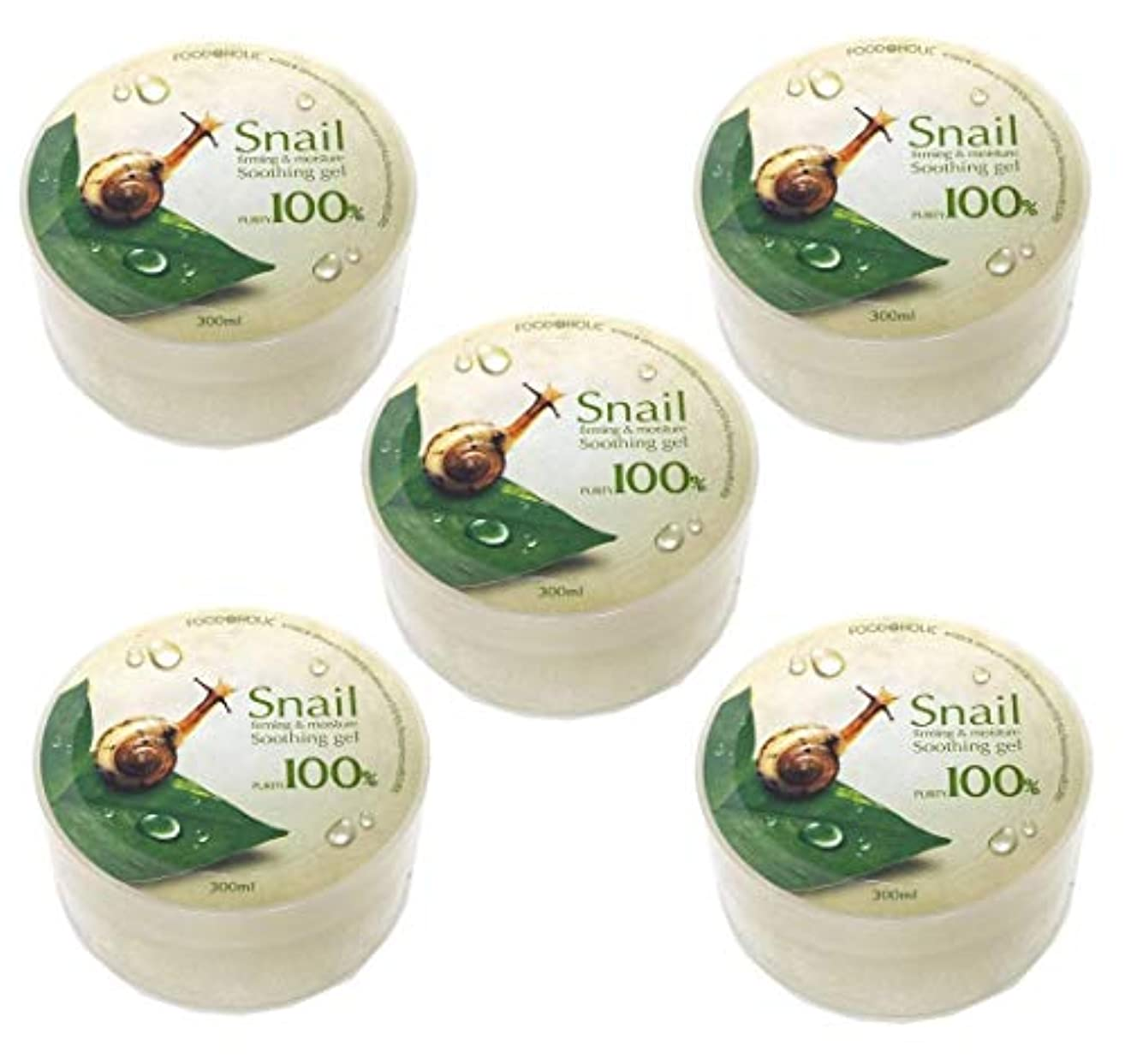 米ドル識別する事[Food A Holic] スネイルファーミング&水分スージングジェル300ml X 5ea / Snail Firming & moisture Soothing Gel 300ml X 5ea / 純度97% /...