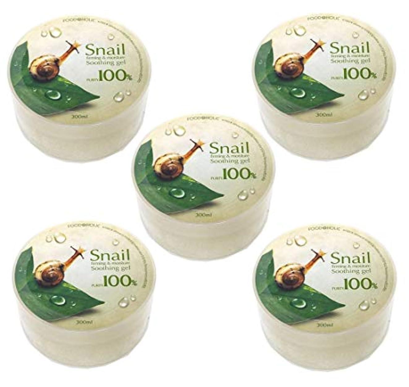 残るぺディカブ進化する[Food A Holic] スネイルファーミング&水分スージングジェル300ml X 5ea / Snail Firming & moisture Soothing Gel 300ml X 5ea / 純度97% /...