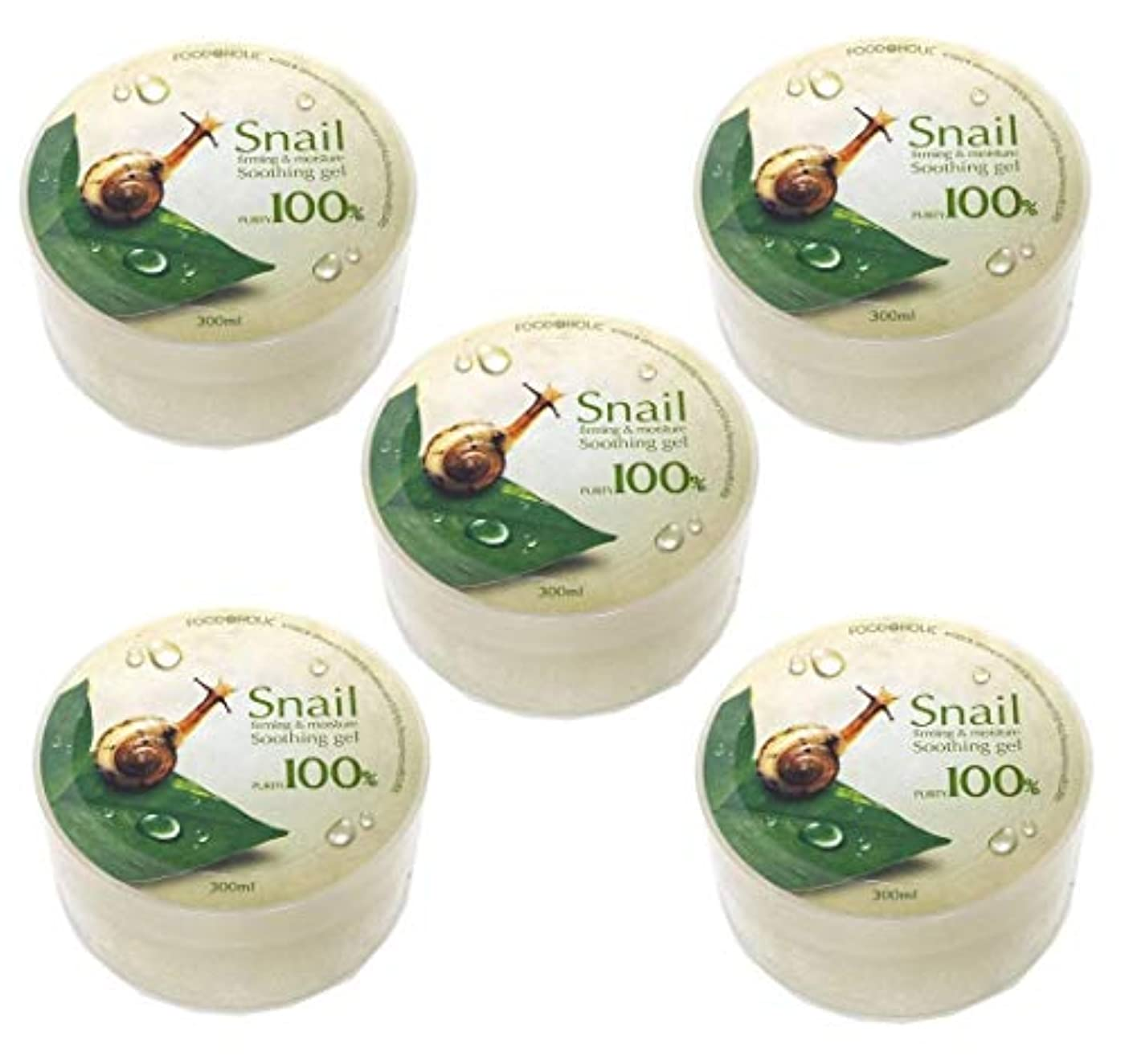 ロール男分岐する[Food A Holic] スネイルファーミング&水分スージングジェル300ml X 5ea / Snail Firming & moisture Soothing Gel 300ml X 5ea / 純度97% /...