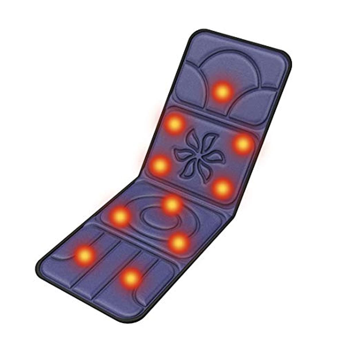 リビングルームインスタント翻訳するDOOB マッサージマットレス スリープ折りたたみ床 マッサージ機 マッサージ クッション シート マットレス チェア 電動 パッド 10つのもみ玉